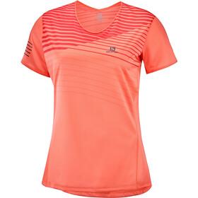 Salomon Sense T-shirt Femme, camellia/cayenne